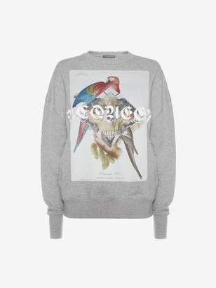 Alexander McQueen Jungle Skull Collage Sweatshirt