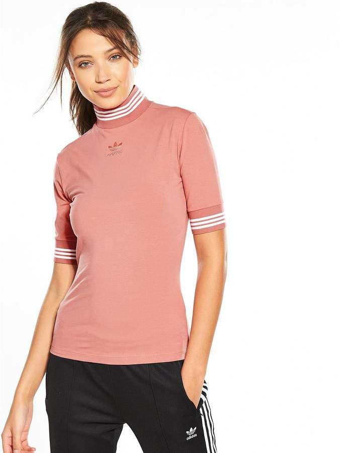 High Neck T-Shirt - Pink