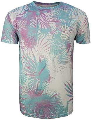 eb608da51ca Soul Star Soulstar Mens Tropical Floral Jungle Summer Holiday Tee