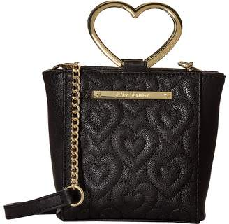 Betsey Johnson Heart Handle Crossbody Cross Body Handbags