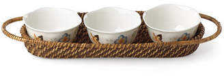 Lenox Butterfly Meadow Family Style Holder with 3 Bowls