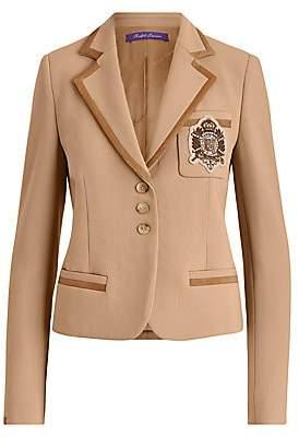 Ralph Lauren Women's Premda Crest Detail Double-Face Crepe Blazer