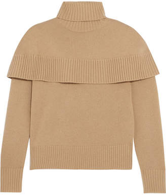 Iris & Ink Woman Billie Ribbed-knit Cotton-blend Turtleneck Sweater Camel Size L IRIS & INK Cheap Sale Fashionable WPuT21