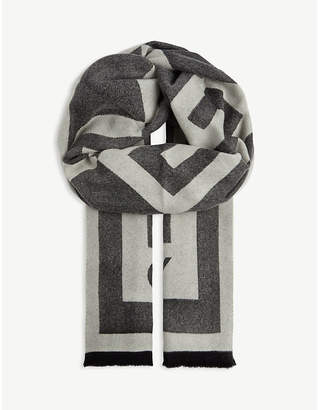 Givenchy Jacquard silk and wool scarf