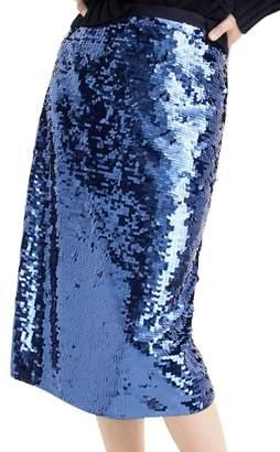 J.Crew J. Crew Sequin Back-Tie Midi Skirt