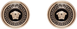 Versace Gold Enamel Medusa Earrings $325 thestylecure.com