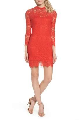 Julia Jordan Long Sleeve Lace Shift Dress