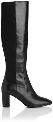 LK Bennett Brianna Black Leather Knee Boots