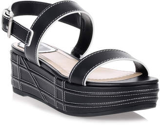 Christian Dior Yacht navy leather sandal