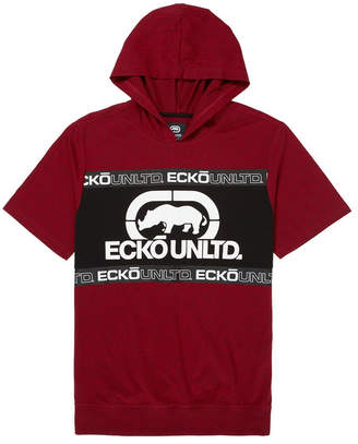 Ecko Unlimited Unltd Men Short Sleeve Tape Hoodie