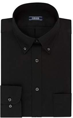 Izod Men's Regular Fit Stretch Solid Buttondown Collar Dress Shirt