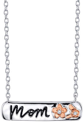 Footnotes Womens Clear Rectangular Pendant Necklace