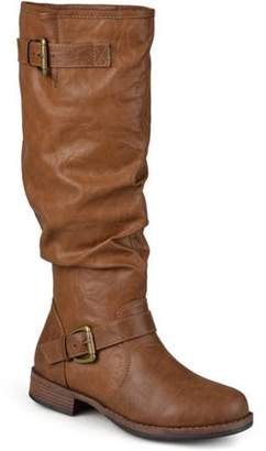 Co Brinley Womens Extra Wide-Calf Buckle Knee-High Riding Boot