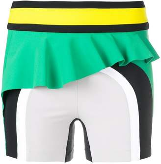 NO KA 'OI No Ka' Oi frill trim colourblock shorts