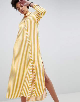Asos Oversized Stripe Maxi Shirt