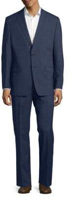 Calvin Klein Stripe Wool Suit