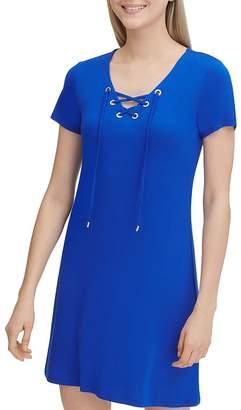Calvin Klein Lace-Up Tee Dress
