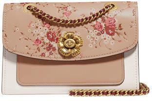 Parker Coach 1941 Floral-Print Leather Shoulder Bag
