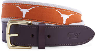 Vineyard Vines University of Texas Canvas Club Belt