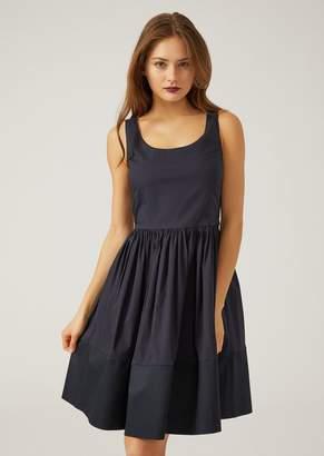 Emporio Armani Full Circle Dress With Contrast Hem