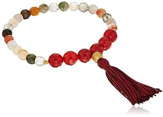 Satya Jewelry Mala Bracelets Angelite & Turquoise Charm Bracelet