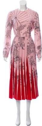 Valentino 2017 Garden of Earthly Delights Silk Dress
