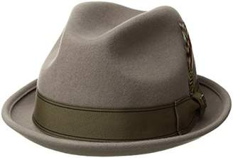 Brixton Men's GAIN Short Brim Felt Fedora HAT