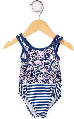Juicy Couture Girls' Printed Embroidered Swimsuit w/ Tags