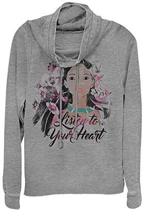 Disney Junior's Pocahontas Listen to Your Heart Graphic Cowl Neck Sweater