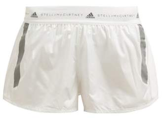 adidas by Stella McCartney Run Adizero Recycled Fabric Shorts - Womens - White