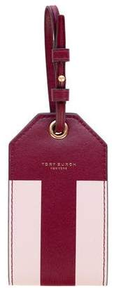 Tory Burch Leather Block T Travel Tag