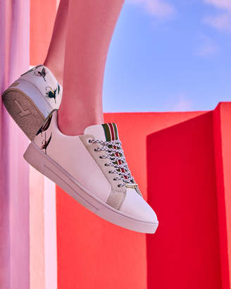 Ted Baker NEILIYA Fly fish embroidered trainers