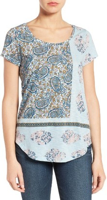 Women's Lucky Brand Mix Paisley Tee $39.50 thestylecure.com
