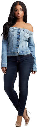 True Religion OFF SHOULDER DENIM JACKET TOP