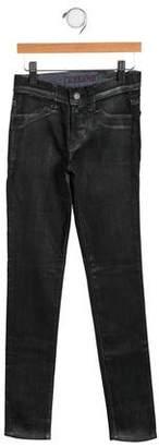 J Brand Girls' Coated Straight-Leg Bottoms