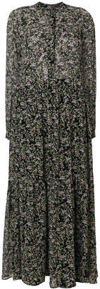 Paul & Joe floral print maxi shirt