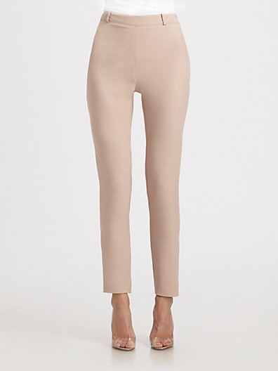 Valentino Cropped Silk Pants