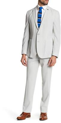 Nick Graham Pinstripe Two Button Notch Lapel Stretch Modern Fit Suit