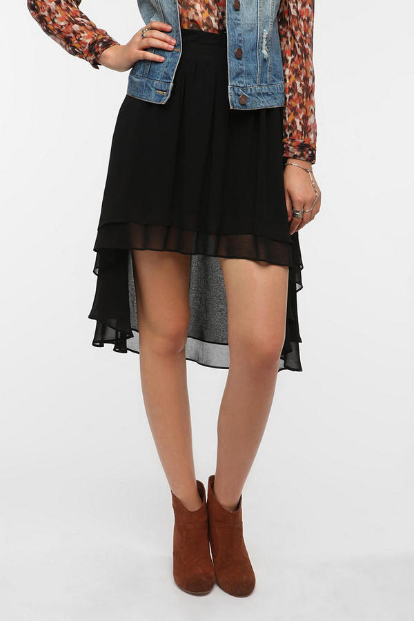 Urban Outfitters Staring At Stars Chiffon High/Low Skirt