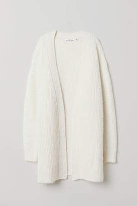 H&M Cardigan with Tie Belt - White