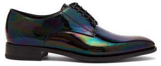 Givenchy Iridescent Leather Derby Shoes - Mens - Black