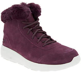 Skechers On-the-GO Lace-up Suede Boots - City 2- Chilled