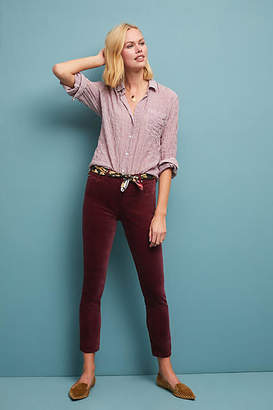 AG Jeans The Stevie Mid-Rise Velvet Skinny Ankle Jeans