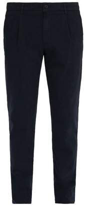 Altea Mid Rise Slim Leg Trousers - Mens - Navy