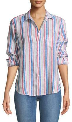 Frank And Eileen Eileen Long-Sleeve Striped Linen Button-Down Shirt