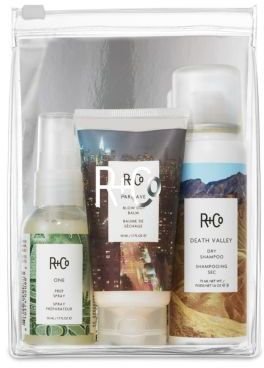 R+Co Runaway Blow Out Travel Set $35 thestylecure.com