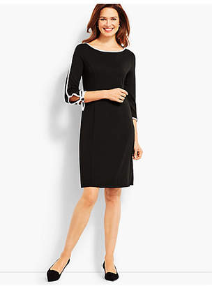 Talbots Elbow-Sleeve Jersey Dress