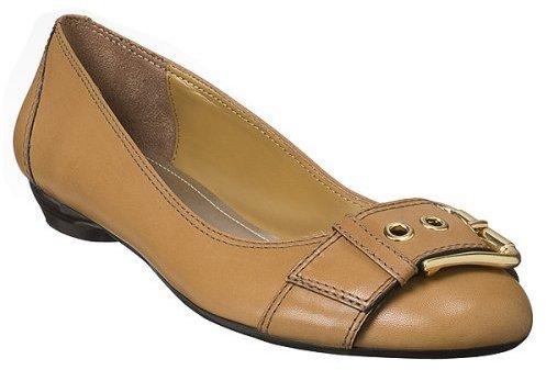 Mossimo® Davina Buckle Ballet Flats - Tan