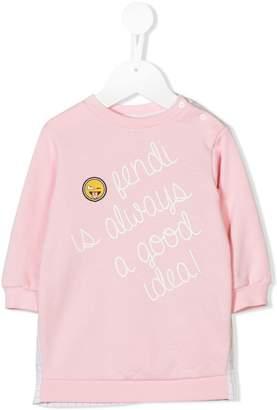 Fendi panelled sweatshirt dress