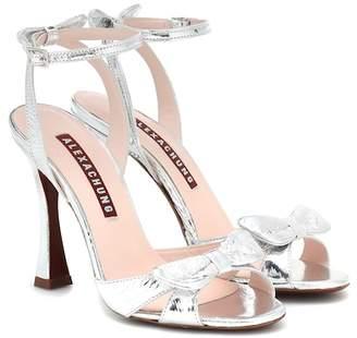 ALEXACHUNG Metallic leather sandals